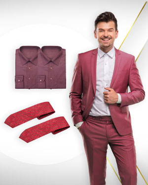 Summer Opportunity - 1 Single Breasted Suit, 2 Cotton Shirts and 2 Neckties from our Heritage Gold Collections