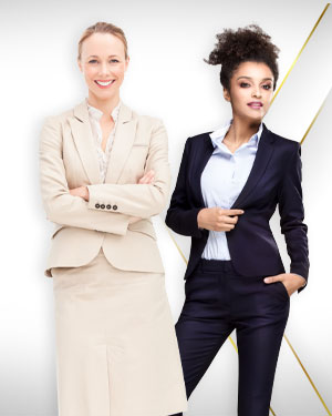 Women Travel Set - 2 Pants Suits, 2 Skirts, 2 Cotton Shirts and 2 Silk Scarf from our Classic Collections