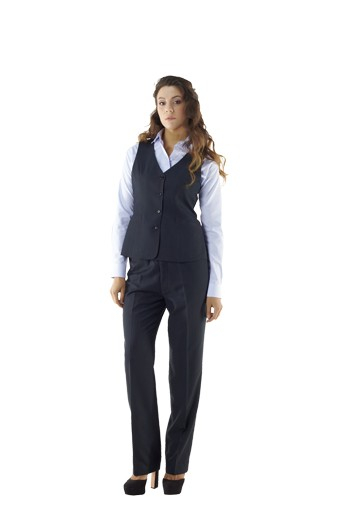These scintillating striped navy blue custom made vests are comfortable office wears with made to measure adjustable back buckles. With four front closure buttons and welted lower pockets, these handmade beauties are perfect for fashionistas. You can order them in wrinkle proof fabrics.