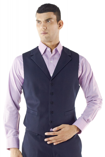 Style no.15288 - Under a jacket or on its own, this custom made waistcoat adds a layer of sophistication to any look. Cut to a well-defined fit, this tailor made classy vest features lower welt pockets, medium gorge, five buttons, cloth back with handmade adjustable buckle and a high notch lapel.