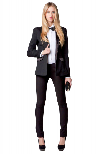 Get party-ready in no time with this womens bespoke midnight blue cashmere wool tuxedo jacket coming from the premium range of womens handmade garments at My Custom Tailor. This stunning womens tailor made slim fit tuxedo jacket features 2 3/4 inch wide slim ruled notch lapels with a medium gorge and 2 slanted lower pockets with flaps. With an exciting presentation of a single breasted pattern and 2 front close buttons, this classic womens handmade dinner jacket is an ideal companion for weddings and all other formal events.