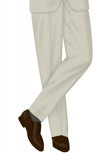 Peep this slim fit pair of men's made to measure vintage tailored formal pants with amazingly stylish features. Designed with a two-point button and hook closure, two back pockets, standard belt loops, 1.5 inch turned-up cuffs, it's one of the best investments you'll be making in your wardrobe.