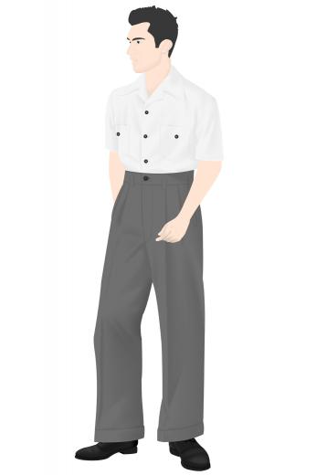 Mens Classic – Vintage Custom made Pants & Slacks – style number 16294