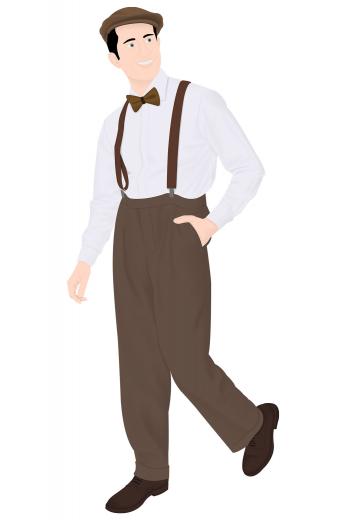 Mens Classic – Vintage Custom made Pants & Slacks – style number 16298