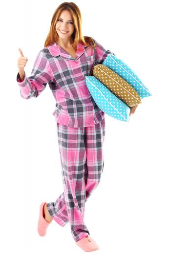 Womens Custom Night Wear – Women's Cotton Pyjamas – style number 17067