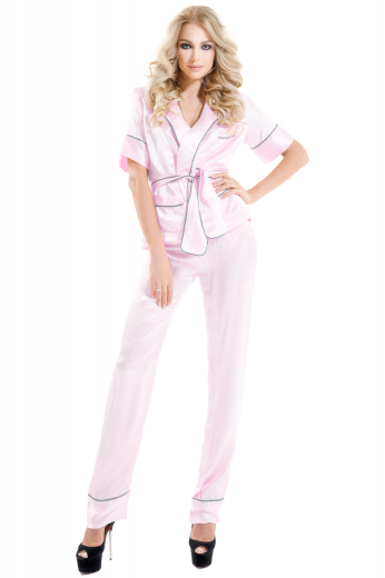 Womens Custom Night Wear – Women's Silk Pyjamas – style number 17071