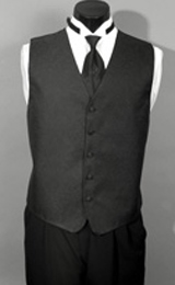 Five button no pocket curved tip longer length men's waistcoat made elegantly by our best tailors to complete any suit.
